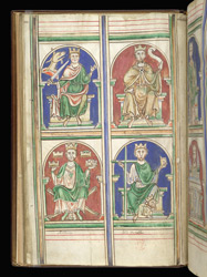 Arthur And Other Early English Kings, In Matthew Paris's 'Epitome Of Chronicles'